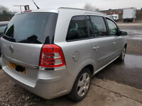 Vauxhall Zafira MK 2 / B Drivers Front door in Silver Z157 2009 O/S/F