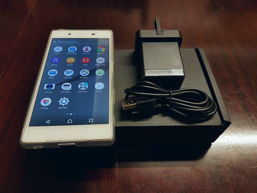 """Sony Xperia Z5 White 5.2"""" FHD 32GB (E6653) Unlocked- FULLY BOXED+VALID WARRRANTY+EXTRAS"""