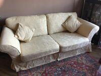 Large 3 seat sofa excellent condition 2 sets covers both vgood order