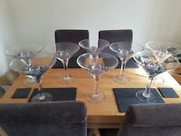 Wedding lot, 8 giant cocktail glasses, mini sweet bar and candles