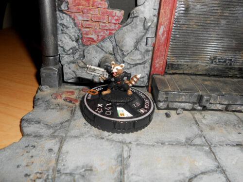 CUSTOM Heroclix Rocket Raccoon #018 Guardians Galaxy Figure Miniature Target