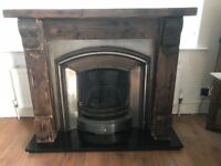 Gas fire with surround