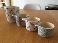 Stoneware measuring cups GBBO