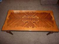 Vintage Inlaid Coffee Table