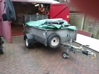 Trailer for sale 6ft by 4ft with long tail board ideal for quad bike or lawnmower ect
