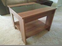 Walnut & Black Coffee Side Table