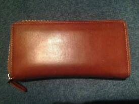 John Lewis the collection tan leather purse