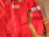 Pioneer Firemaster coverall 550 red, size 46 overalls NEW