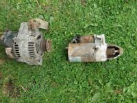 Mgf starter and alternator