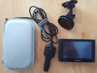 Garmin Nuvi 42LM with lifetime UK&ROI maps, in car charger, window mount and protective hard case