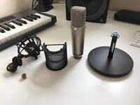 Rode NT1-A Condenser Microphone Bundle with mic stand, shock mount, pop filter