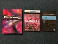 Pharmacology and clinical chemistry/biochemistry textbooks