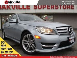 2013 Mercedes-Benz C-Class C300 4MATIC   SUNROOF   ONLY 35, 315K