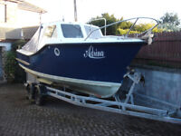 Boat, Colvic 22, Seaworker Boat, 2 Berth Cabin, Pleasure, Day, Fishing