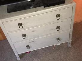 Shabby chic solid wood drawers