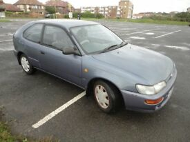 TOYOTA COROLLA 1.3, VERY RELIABLE, LOW MILEAGE FOR YEAR, DRIVES SUPERBLY,LONG MOT,IDEAL 1st CAR