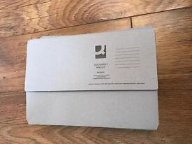 30 document wallets brand new