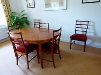 Teak Mcintosh Table and 6 Chairs