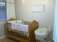 Wooden Cot Bed Mama's & Papa's in very good condition,flat packed,but may build if req.