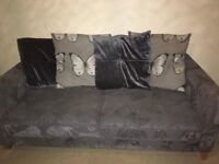 3 Seater Sofa and pouffee
