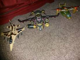 Set of fighter planes
