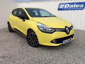 Renault Clio 1.2 16V Dynamique Medianav 5Dr Hatchback (yellow) 2013