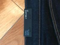 J Brand. Dark rinse high rise skinny jeans.