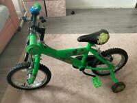 """Green boys 14"""" bike"""