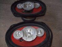 Pair of car speakers.