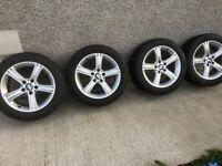 BMW Genuine Alloy Wheels 17'' with Good Year Run Flat Tyres
