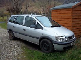 Vauxhall Zafira 05 1600 engine petrol manual MOT'd till June