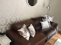 Armitage leater sofa