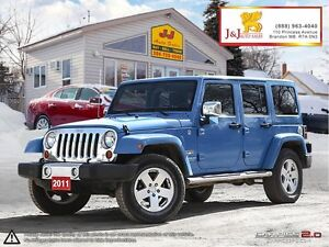 2011 Jeep Wrangler Unlimited Sahara 6Speed,4X4,Lots Chrome