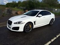 Jaguar XFR in white recently detailed many extras