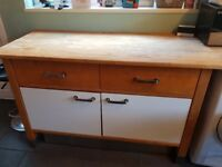 Complete solid wood and stainless steel kitchen with nearly new oven