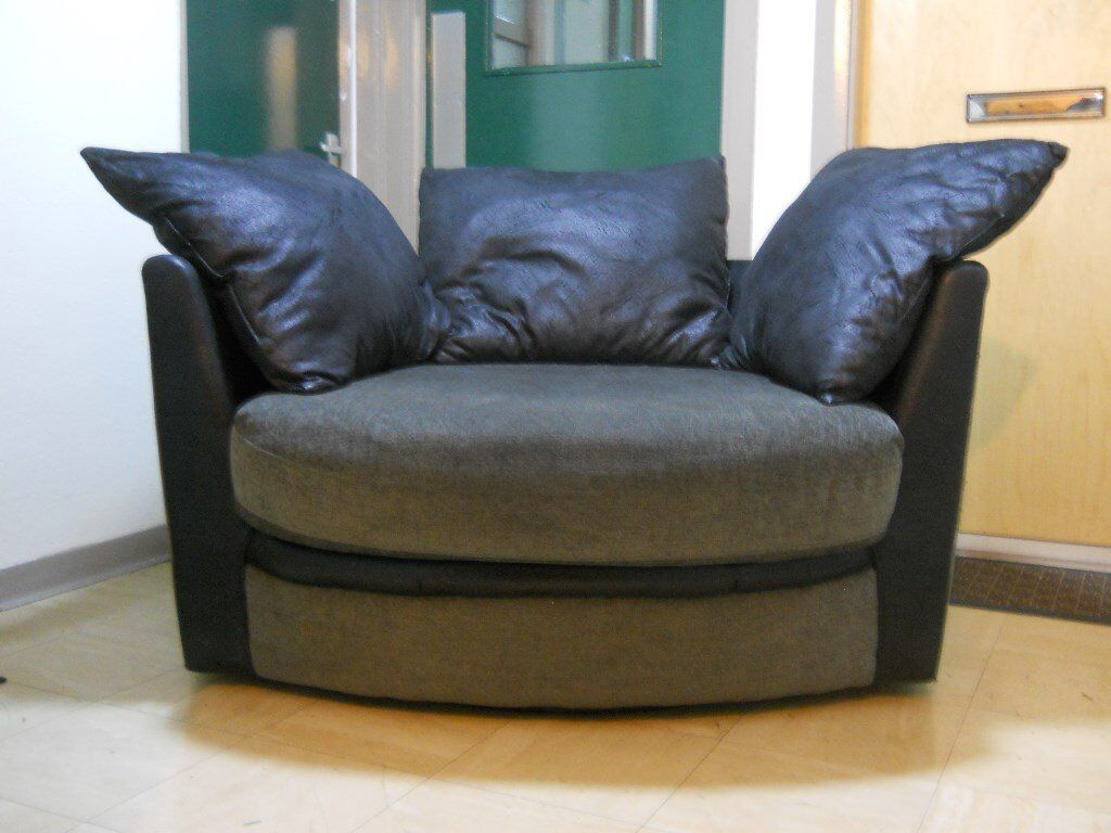 Big Swivel Chair/Sofain Salford, ManchesterGumtree - Big Swivel Chair/Sofa Grey material, roughly 4foot circumference. (See photo) Buyer must collect please