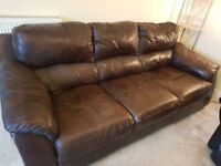 'FREE' Large 3 seater leather sofa, very comfy! Need gone!