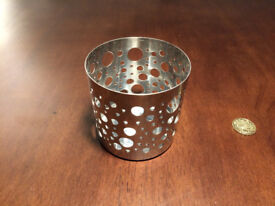 3 metal candle holders from Ikea