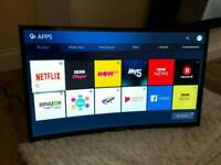 27in Curved Samsung Smart 1080p Wi-Fi FREEVIEW HD TV [NO STAND]