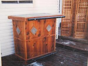 Custom built red cedar patio furniture