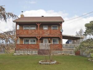 2 Storey house for Sale with exceptional View of Lac St Francois