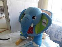 'ELLIE THE ELEPHANT' Plush sit in baby rocker (Brand new in box)