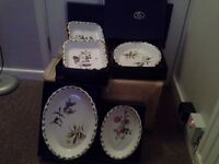 regal bone china pie dishes in baskets