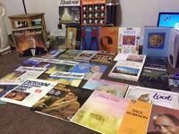 Vinyls art books and roman history book job lot