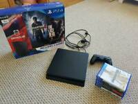 PS4 1TB Console with 6 Games plus box