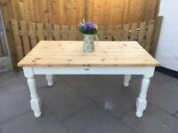 Solid pine farmhouse handmade table