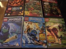 6 LEGO DVDS