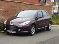 Peugeot 307 1.4 (2007/56 Reg) 5 Door Hatchback + Maroon + New Shape +