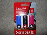 SANDISK 16gb Memory sticks triple pack - USB 2