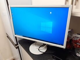 WHITE 27 INCH SCREEN FULL HD (WITH CABLE FOR MACKBOOK)
